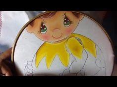 Pintura en tela niño esfera # 3 con cony - YouTube