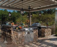 galleries, outdoor kitchen design, pergolas, outdoor kitchens, hous, backyard, garden, light, kitchen designs
