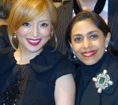 with BEAUTIFUL Ayumi Hamasaki at the Louis Vuitton Holiday Party