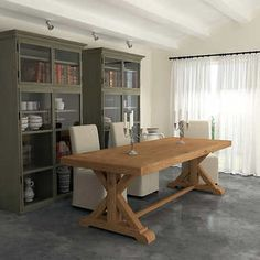 Cabos 198.1 cm (78 in.) Distressed Wood Dining Table
