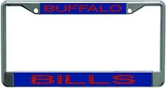 Buffalo Bills Metal License Plate Frame with Glitter Design