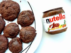 Nutella Filled Chocolate Cookies