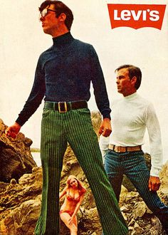 Levis 1960s Advert. Statistic placement of woman ?,under the balls....