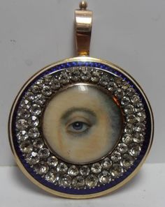 Eye brooch by Foxfern, photo 7.Again, same artist. Recently sold GBP 1795 ebay.Look at other eye miniatures listed by the same dealer. All eyes are made by the same artist. Is it possible that the same lover's eye painter's work are collected by the same collector after 200 years? And all these work come to the market at the same time?