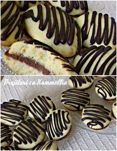 #Paleuri cu ciocolata / #Fursecuri umplute cu crema de #ciocolata o #reteta delicioasa si foarte usor de preparat!  Ingrediente: pentru 45 paleuri  pentru aluat: unt, zahar pudra, sare, oua, faina   pentru #crema:frisca lichida, ciocolata amaruie   pentru glazura: ciocolata amaruie Unt, Cookies, Make It Yourself, Desserts, Food, Crack Crackers, Tailgate Desserts, Deserts, Biscuits