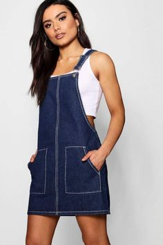 Tips on teens clothing jumpers a new dress? boohoo's latest range has dresses for special events, nights out & everyday style, from statement maxis, printed midis and jumper dresses. Denim Pinafore, Pinafore Dress, Dresses For Teens, Outfits For Teens, Diy Clothes, Clothes For Women, Denim Crafts, Apron Designs, Overall Dress