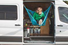 Campervan Ideas - Side Door Hammock - Ford Transit Campervan