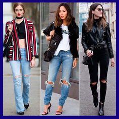 Clique aqui e veja como usar a calça jeans rasgada só no joelho!