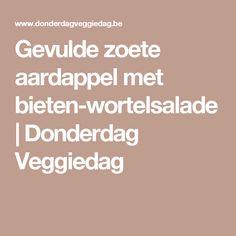 Gevulde zoete aardappel met bieten-wortelsalade | Donderdag Veggiedag