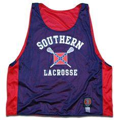 Southern Rebel Flag Lacrosse Pinnie