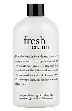 philosophy 'fresh cream' shampoo, shower gel & bubble bath (Limited Edition) | Nordstrom