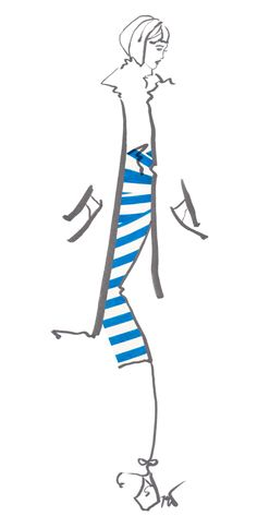 Drawn to Style: Show Your Stripes fashion illustration by Tanya Leigh Washington