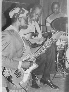 J.B. Hutto, Hound Dog Taylor and Ted Harvey.... It is said that the reason Taylor always used cheap Japanese guitars is because of the rough, primal sound they produced...