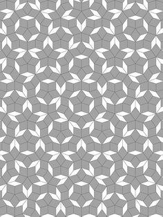 "Penrose star tiling: 60"" x 80"" by domesticat, via Flickr"