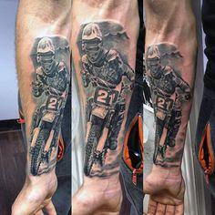 70 Motocross Tattoos For Men - Dirt Bike Design Ideas Dirt Bike Tattoo, Motocross Tattoo, Bike Tattoos, Motorcycle Tattoos, Sleeve Tattoos, Tatoos, Gear Tattoo, X Tattoo, Tatouage Dirt Bike