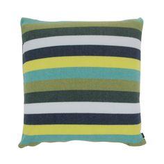 Discover the Zoeppritz Soft-Fleece in Stripe Cushion - 60x60cm - Huntergreen at Amara