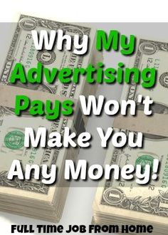 Learn Why My Advertising Pays Is A Scam That Won't Help Your Website Make More Money!
