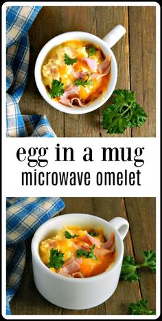 So fun, so fast & so easy, Egg in a Mug Microwave Omelets are the answer to just about every breakfast dilemma you might have! Minutes to make. meals with eggs Egg in a Mug Microwave Omelets Microwave Omelet, Microwave Mug Recipes, Microwave Breakfast, Eggs In Microwave, Microwave Cooking For One, Cooking Kids, College Cooking, Cooking Light, Cooking Classes