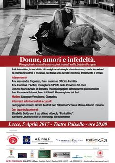 Donne, amori e infedeltà @ Teatro Paisiello - 5-Aprile https://www.evensi.it/donne-amori-e-infedelta-teatro-paisiello/204373354