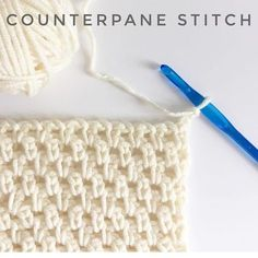 How to Counterpane Stitch for Crochet - Daisy Farm Crafts
