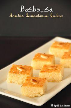 basbousa egglesss arabic semolina cake with coconut
