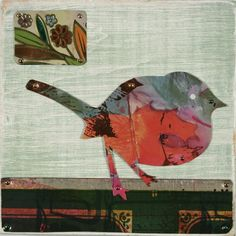 TIN CAN SALLY • Recycled Tin Art and Jewelry • Sally Seamans : collage birds
