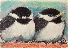 bird oil pastel - Yahoo Image Search results