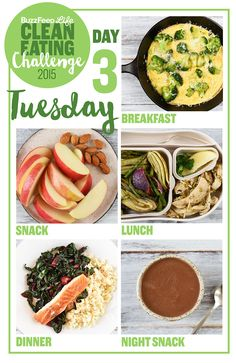 This is a delicious two-week meal plan that will teach you to cook and eat healt. - This is a delicious two-week meal plan that will teach you to cook and eat healthy, feel awesome, a - Clean Diet Recipes, Healthy Chicken Recipes, Healthy Foods To Eat, Real Food Recipes, Healthy Snacks, Healthy Eating, Clean Foods, Healthy Pizza, Cooking Recipes