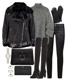 """""""Untitled #2955"""" by theeuropeancloset on Polyvore featuring Paige Denim, Michael Kors, Boohoo, Stuart Weitzman, Mulberry, J.W. Anderson, Burberry, Yves Saint Laurent and Topshop"""