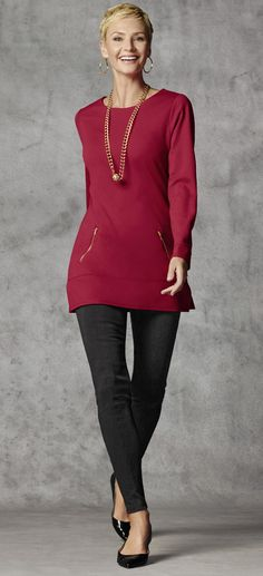 Ponte knit tunic. #chicosweeps