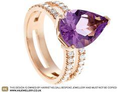 Natalie's Fairtrade Rose Gold Amethyst and Diamond Eternity Ring Jewellery Uk, Jewellery Designs, Jewelry Shop, Eternity Ring Diamond, Traditional Design, Store Design, Fair Trade, Pear, Amethyst