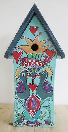 Wundervolle handbemalte Vogelvilla Jede Nistvilla ist ein Unikat in liebevoller Handarbeit gefertigt und handbemalt von der Künstlerin Maren Schmidt