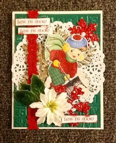 Scrap Savings: Christmas card made using a free image from Gecko Galz.