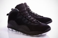 Air Jordan Retro 10 - Stealth My favorite Sock Shoes, Men's Shoes, Shoe Boots, Shoes Sneakers, Sneakers Fashion, Jordan Retro 10, Sneaker Games, Nike Shoes Outlet, Sneaker Boots
