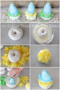 Peeps Birds Nest- The Perfect Easter Activity for Kids! Peeps Birds Nest- The Perfect Easter Activity for Kids! Easter Snacks, Easter Peeps, Hoppy Easter, Easter Brunch, Easter Party, Easter Treats, Easter Recipes, Easter Stuff, Easter Food