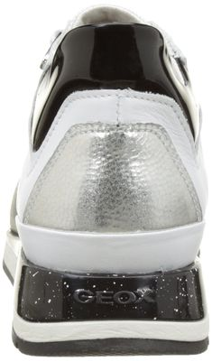 243c69321361 Geox Womens W Shahira 35 White Silver Athletic Shoe     Want to know more