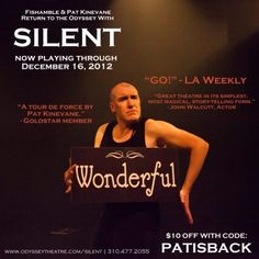 """""""Silent"""" by Pat Kinevanne at The Odyssey Theatre Ensemble"""