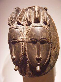 NMAfA_Mask of twins (Baule people, Cote d'Ivoire)