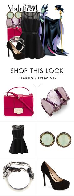 """""""Maleficent"""" by tallybow ❤ liked on Polyvore featuring Jimmy Choo, Style & Co., Eilisain Jewelry and Jessica Simpson"""