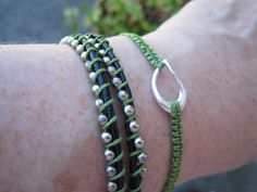 Wrap Bracelet and Macrame Bracelet