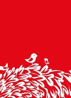 Red Birds Print Different sizes от JudyKaufmann на Etsy