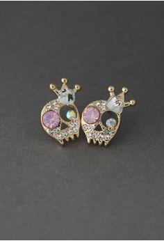 Crystal Skull Queen Earrings - Accessory - Retro 6838c98b644a