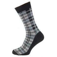 Grey Check Design Men Socks