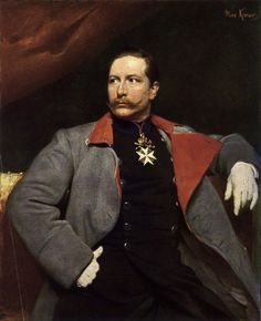 Max Koner, Wilhelm II. im grauen Militärmantel,...