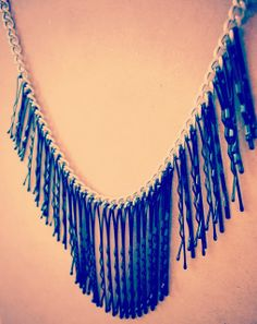 Mis Creaciones ✄✄: Maxi Collar Black Fringe