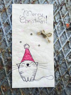 Kartka świąteczna handmade eko