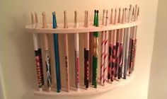 Drum-Stick-Display-Drumstick-Holder-Hold-13-pair-Custom-Made-New-Solid-Wood