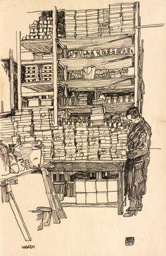 Egon Schiele: Storeroom with Civilian Worker in Vienna