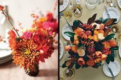 Heavenly fall flower arrangements via @MS_Living @MarthaStewart #flowers #decor