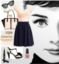 """Audrey Hepburn Style"" by shabbiechicbaker on Polyvore"